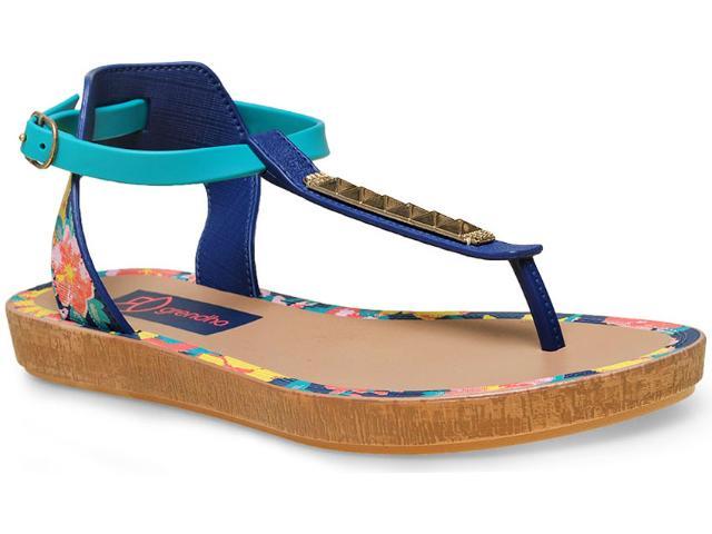 Sandália Feminina Grendene 17084 Grendha Tropicos Sand  Azul