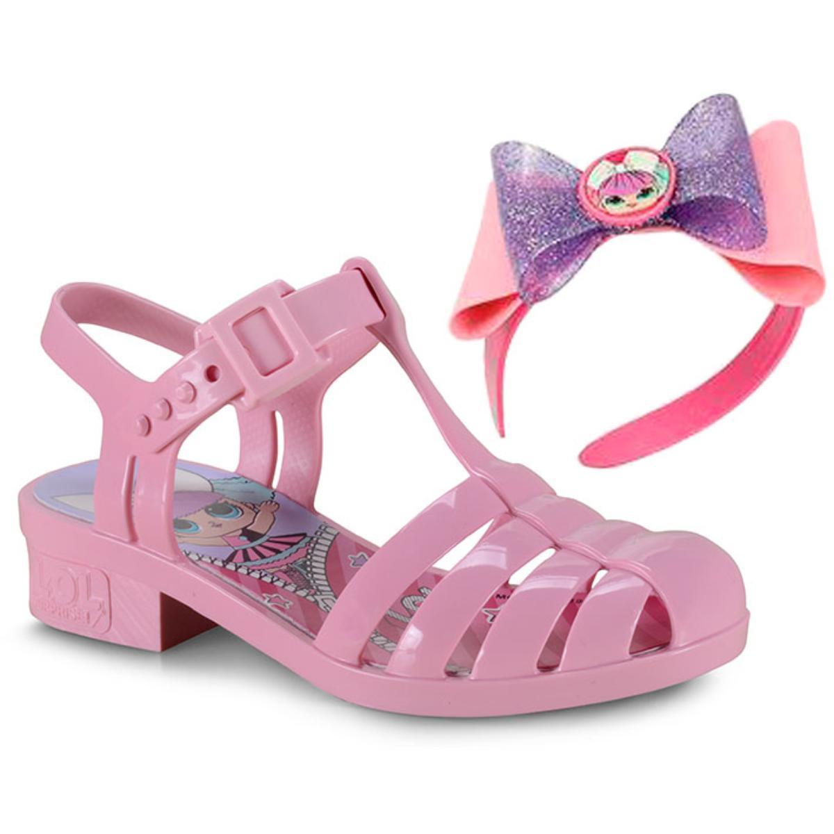 Sandália Fem Infantil Grendene 22004 52898 Lol Laço Mania Rosa/rosa Claro