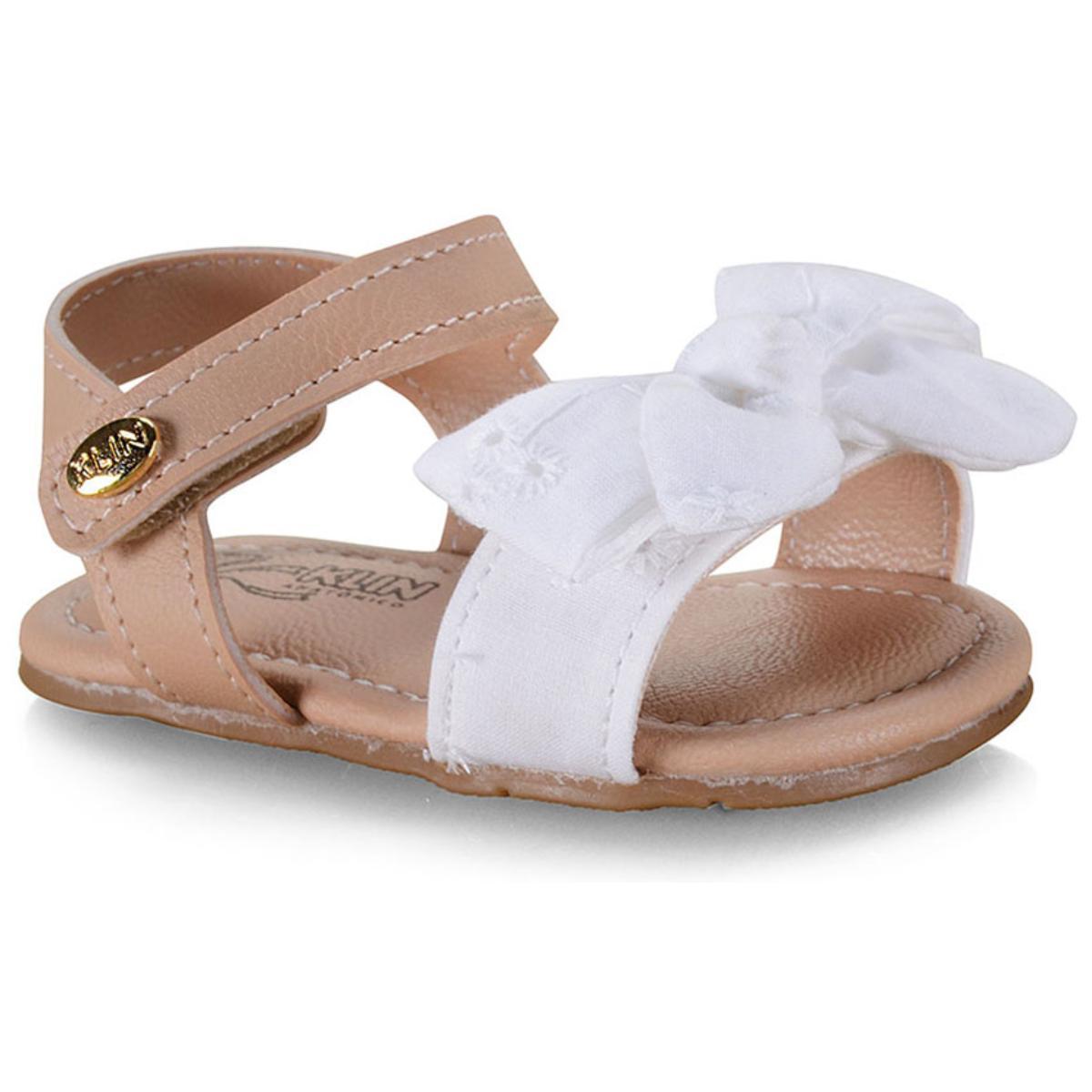 Sandália Fem Infantil Klin 515.142 Branco/nude