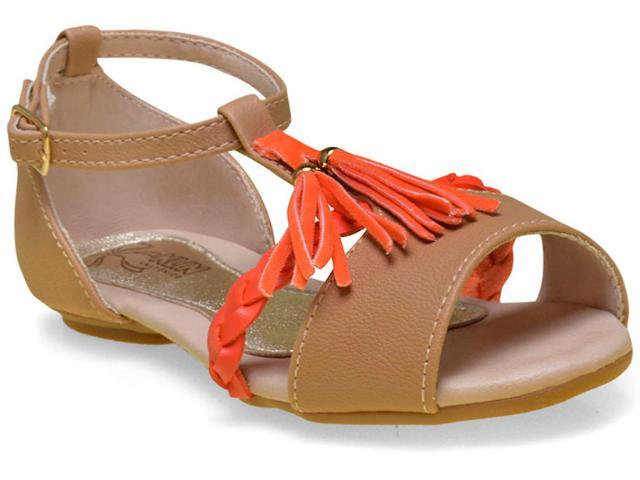 Sandália Feminina Klin 113.019 Bege/laranja