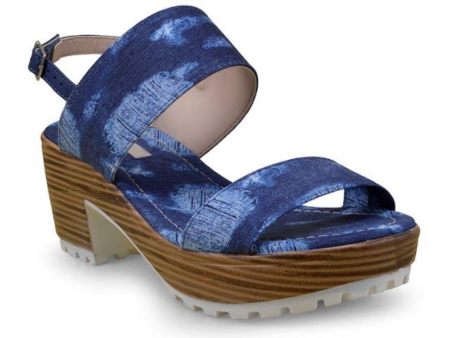 Sandália Feminina Moleca 5266302 Multi Jeans/marinho