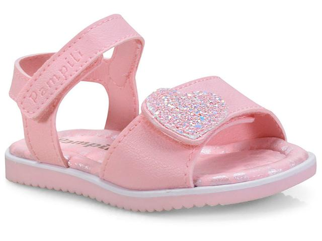 Sandália Fem Infantil Pampili 127.034 Rosa Glace