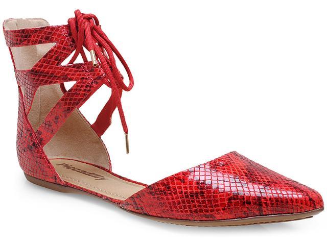Sapatilha Feminina Piccadilly 274011 Vermelho