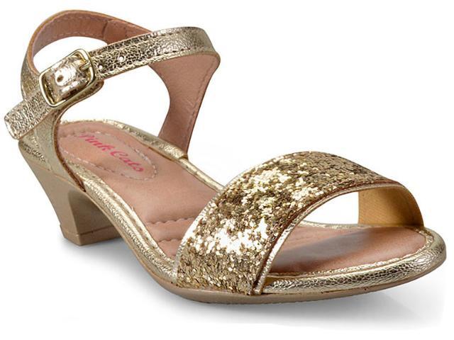 Sandália Feminina Pink Cats W9301a Ouro