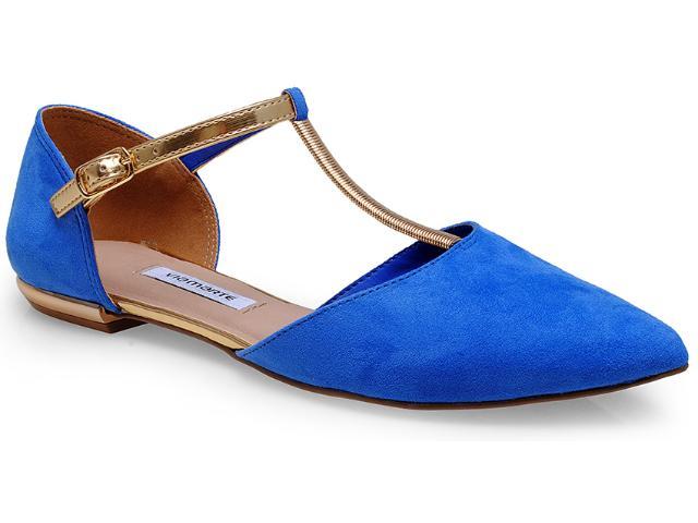 Sandália Feminina Via Marte 14-14703 Azul Bic/ouro