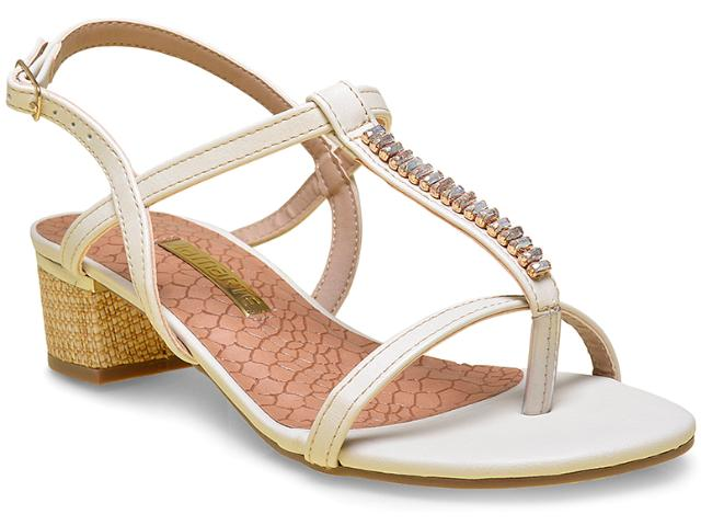 Sandália Feminina Via Marte 15-17652 Off White