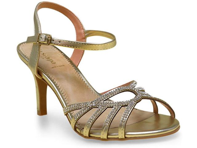 Sandália Feminina Via Scarpa 8535 Ouro