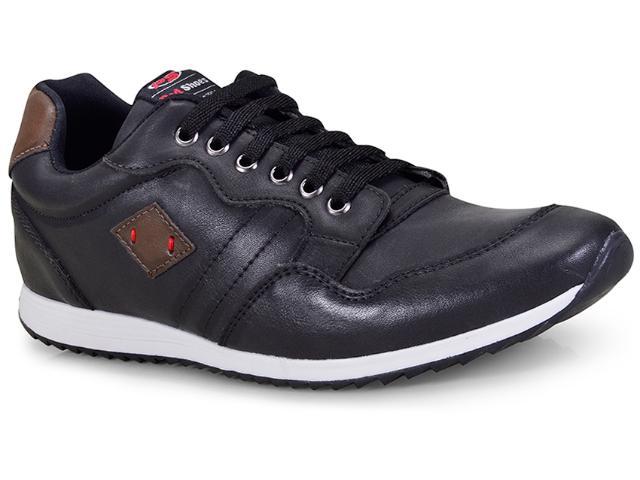 Sapatênis Masculino Ped Shoes 15000-a Preto/tabaco