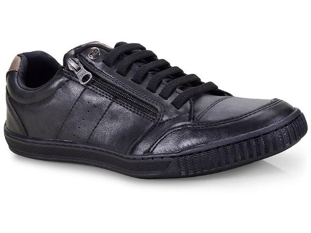 Sapatênis Masculino Ped Shoes 14010-a Kit C/relogio Preto
