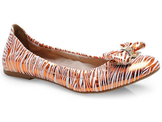 Sapatilha Feminina Della Bella 12008 Zebra Laranja