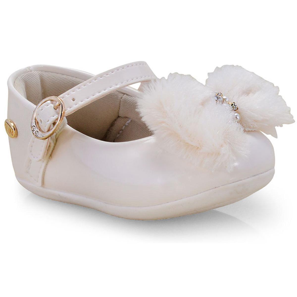 Sapatilha Fem Infantil Klin 125.099 Off White