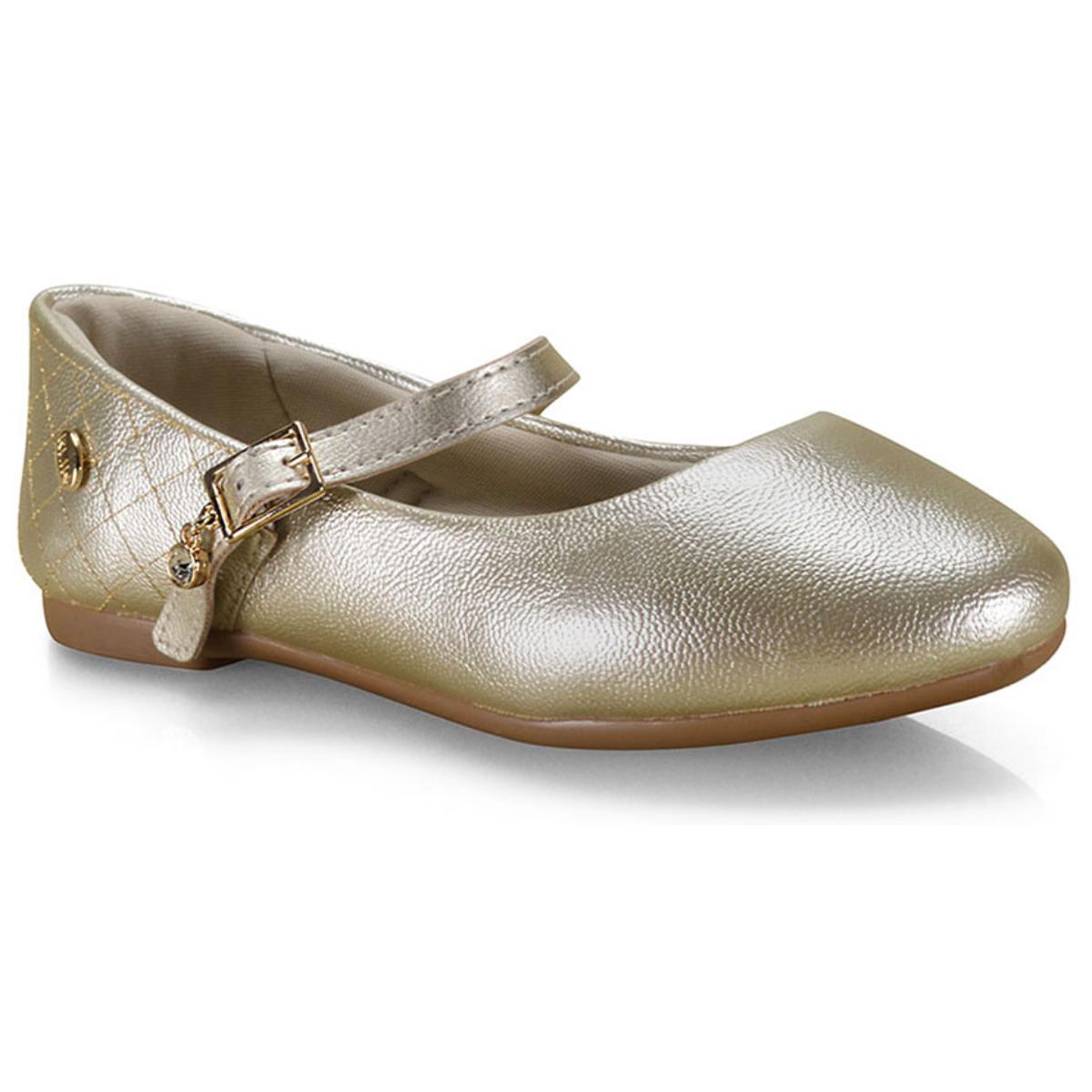 Sapatilha Fem Infantil Klin 151.117 Dourado
