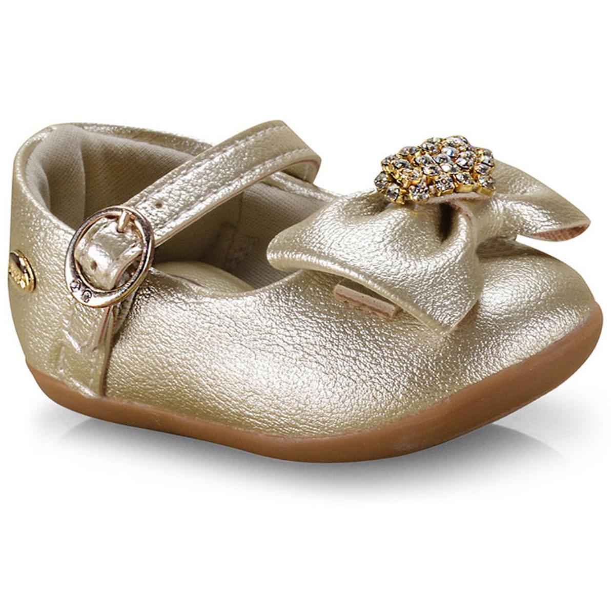 Sapatilha Fem Infantil Klin 125.108 Dourado