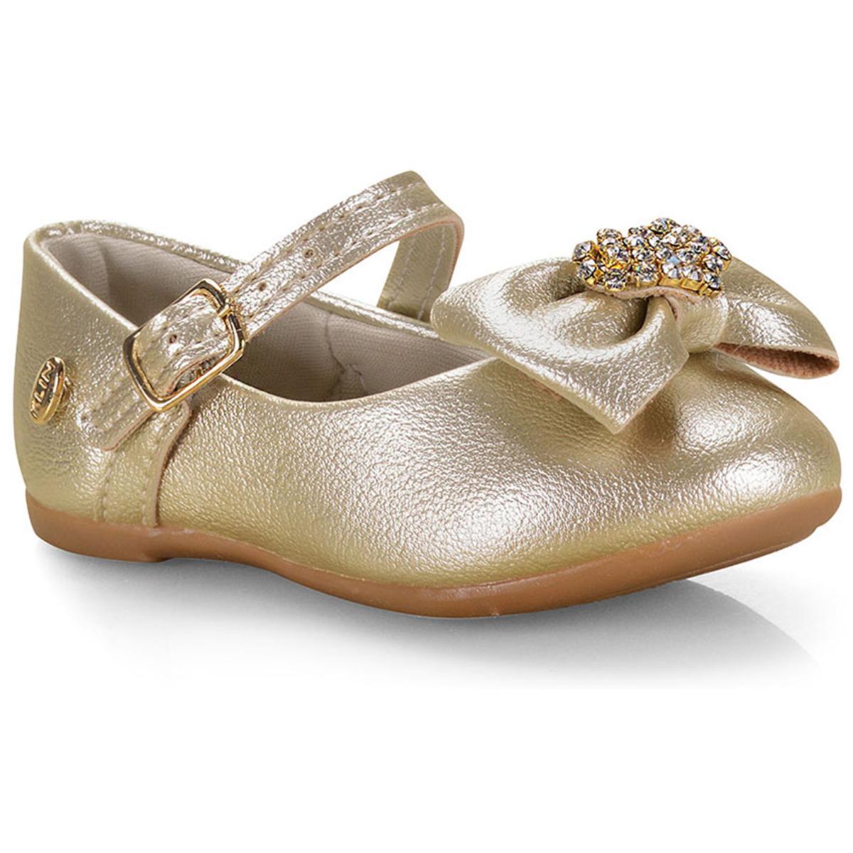 Sapatilha Fem Infantil Klin 152.117 Dourado