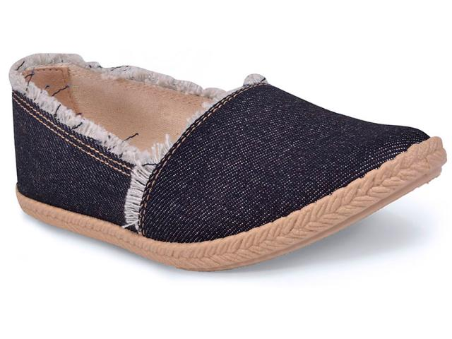 Sapatilha Feminina Moleca 5287131 Jeans Escuro
