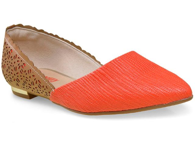 Sapatilha Feminina Piccadilly 274030 Tan/coral