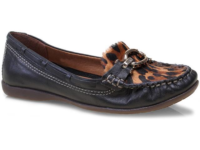 Sapato Feminino Bottero 225503 Preto/onça