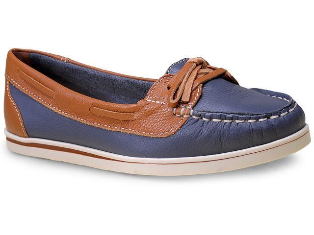 Sapato Feminino Bottero 216001 Jeans/caramelo