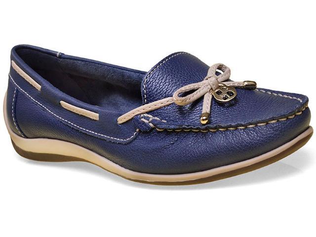 Sapato Feminino Bottero 250001 Jeans/bege