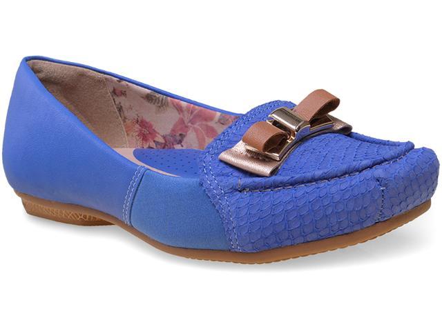 Sapato Feminino Campesi 5073 Azul Klein