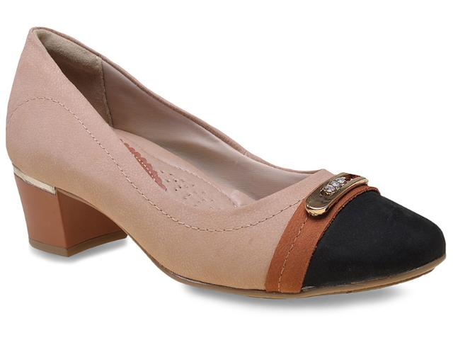 Sapato Feminino Comfortflex 15-95314 Avelã/preto/pinhao