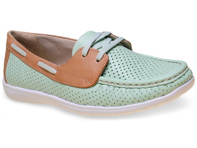 Sapato Feminino Comfortflex 15-83404 Aqua/caramelo