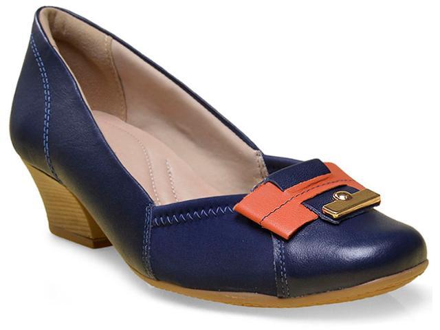 Sapato Feminino Comfortflex 16-95303 Marinho