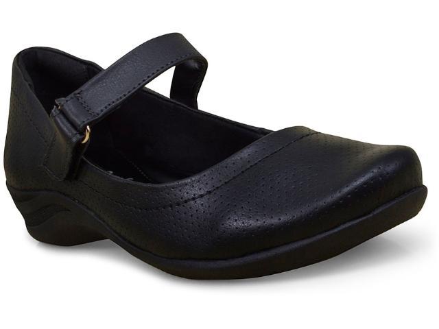 Sapato Feminino Comfortflex 17-55302 Preto