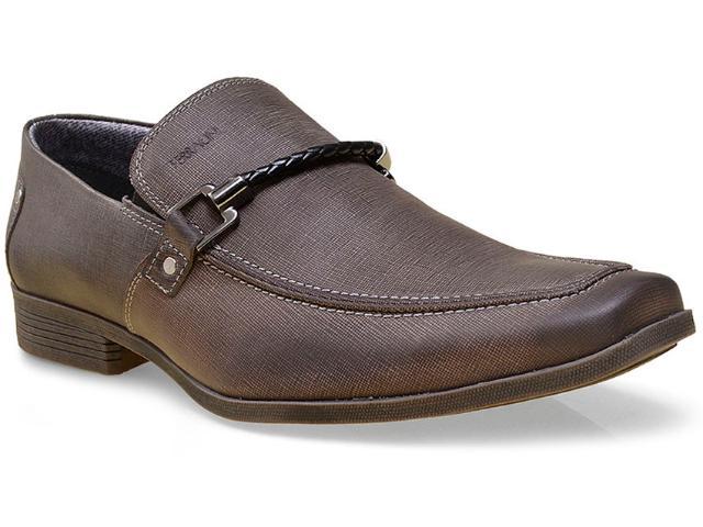 Sapato Masculino Ferracini 4916-281 Jeans Petróleo
