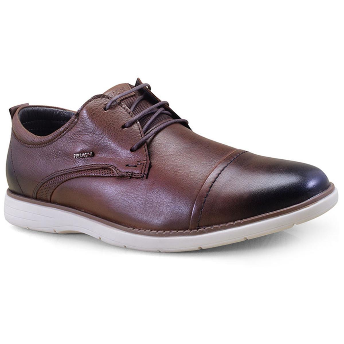 Sapato Masculino Ferracini 6120-559h Conhaque