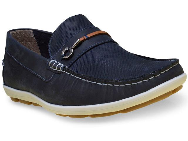 Sapato Masculino Ferricelli Yn46235 Azul/camel
