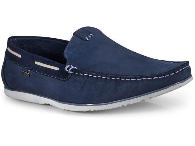 Sapato Masculino Free Way Cassis Nobuck Midnight Azul