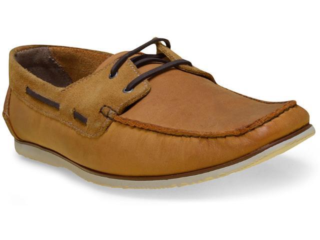 Sapato Masculino Free Way Escuna-1 Camel