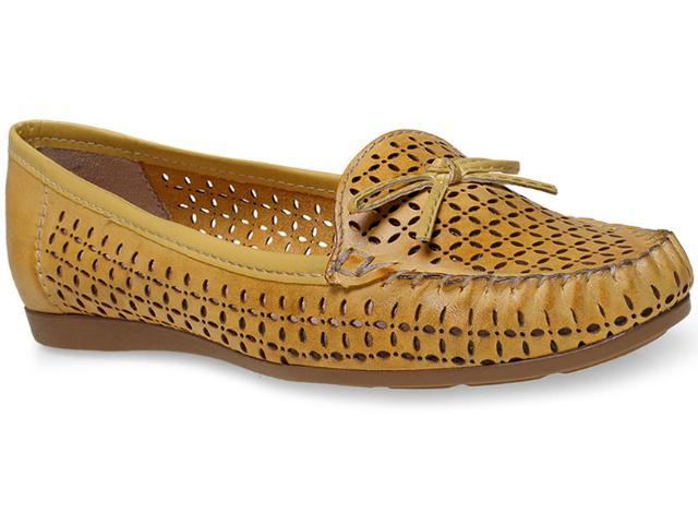 Sapato Feminino Giulia Domna 21417 Amarelo