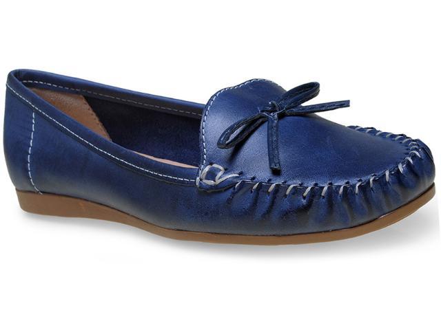 Sapato Feminino Giulia Domna 21403 Marinho