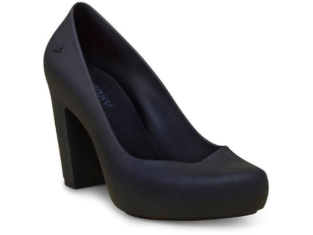 Sapato Feminino Grendene 17352 Zaxy Ferver Preto