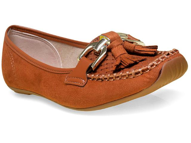Sapato Feminino Moleca 5252116 Caramelo