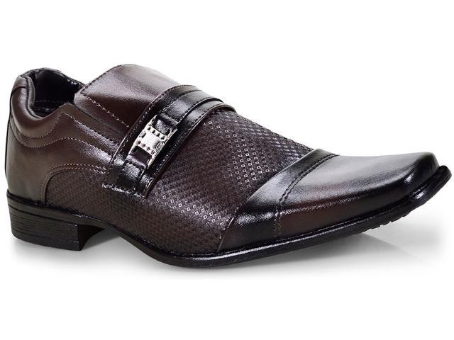 Sapato Masculino Ped Shoes 50901-b  Café Kit c/ Carteira e Cinto