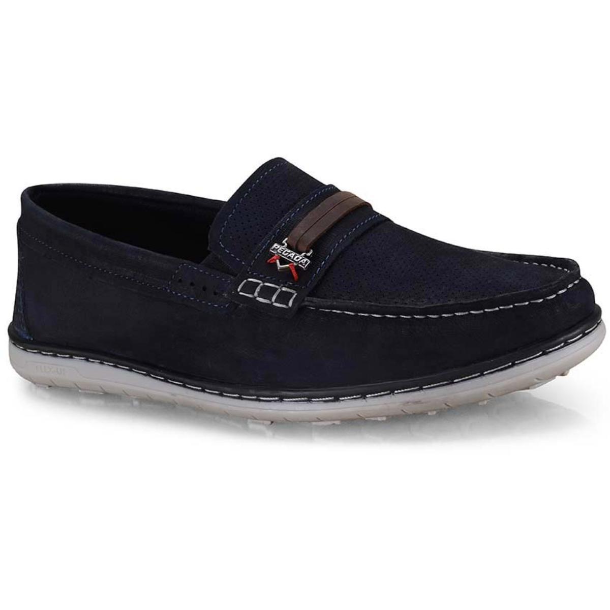 Sapato Masculino Pegada 141103-07 Azul/coffe