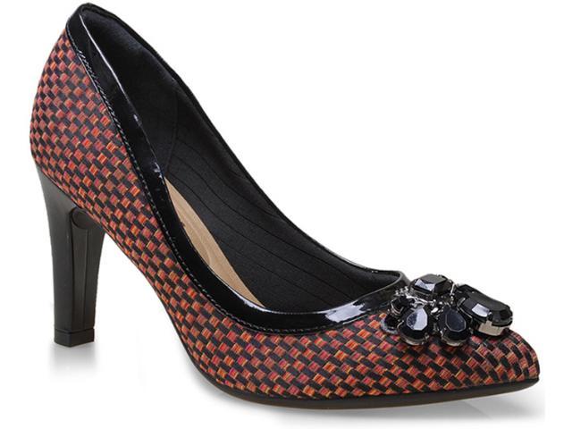 Sapato Feminino Piccadilly 722011 Preto/argila