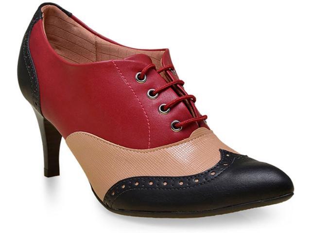 Sapato Feminino Piccadilly 745030 Preto/merlo/tan