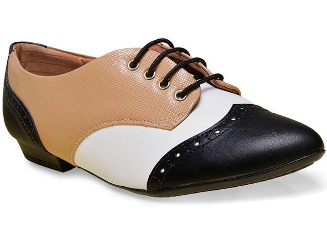Sapato Feminino Piccadilly 725021 Preto/tan/branco