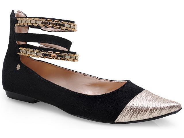 Sapato Feminino Pienza Ex831726 Preto/dourado