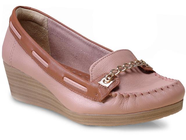 Sapato Feminino Ramarim 15-83105 Pele/caramelo