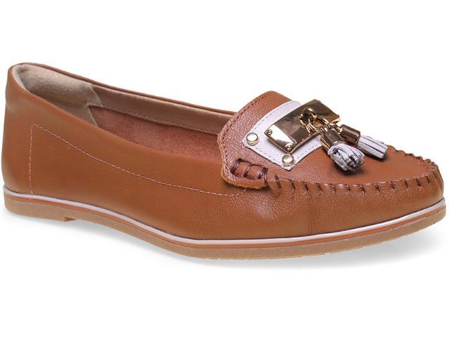 Sapato Feminino Ramarim 15-81104 Caramelo/creme