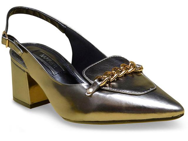 Sapato Feminino Ramarim 17-94103 Prata Velha