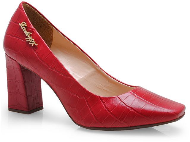 Sapato Feminino Seculo Xxx 990-10540 Cereja/ouro/nude