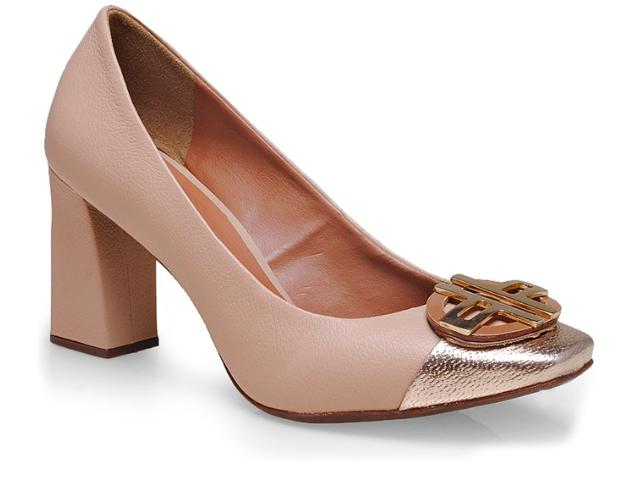Sapato Feminino Seculo Xxx 990-20095 Blush/ouro/caramelo