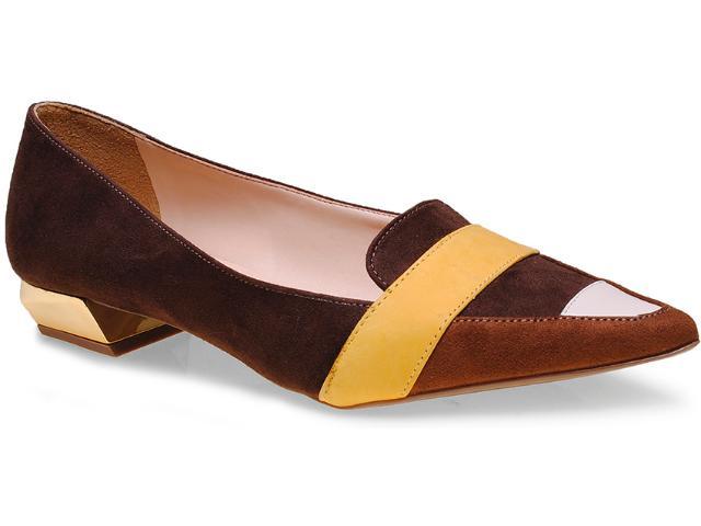 Sapato Feminino Seculo Xxx 1059.20713 Café/amarelo