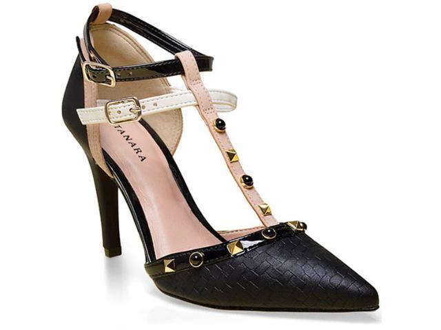 Sapato Feminino Tanara 0186 Preto/nude